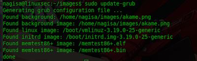 Mengganti Background GRUB Linux menggunakan Gambar