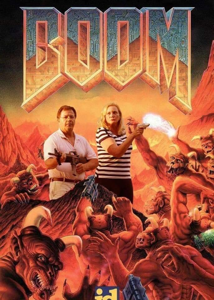 A paródia da capa do Doom do Momento