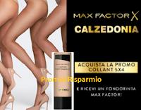 Logo Calzedonia ''Evento Collant'' 5 collant come 4 e in omaggio sicuro 1 Fondotinta Max Factor per te!