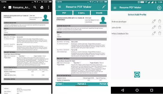 Aplikasi Membuat CV Lamaran Kerja Gratis Terbaik di Android-4