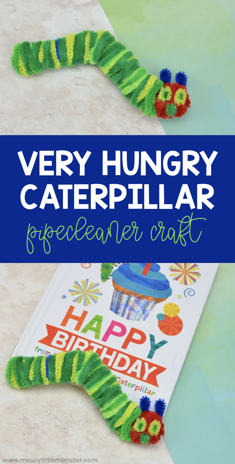 The Very Hungry Caterpillar craft. A fun pipe cleaner craft for kids