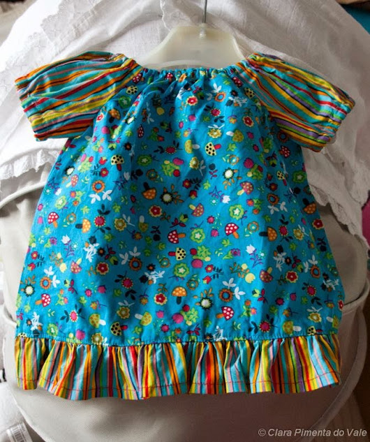 patchwork ... & ... more: Peasant dress - newborn