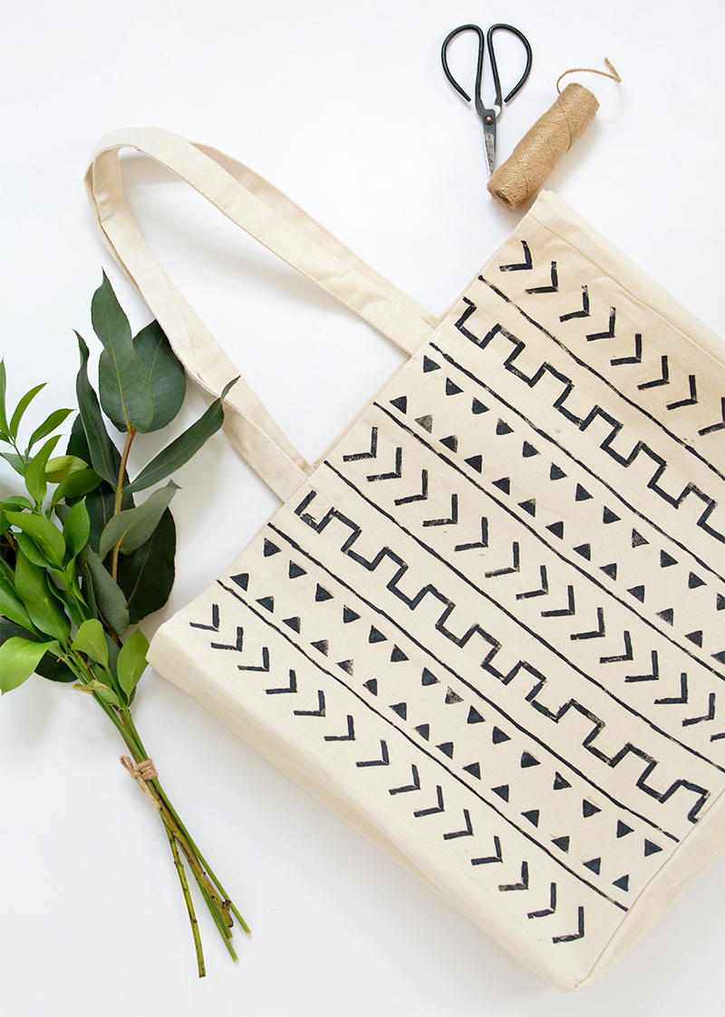 DIY mudcloth fabric tutorial