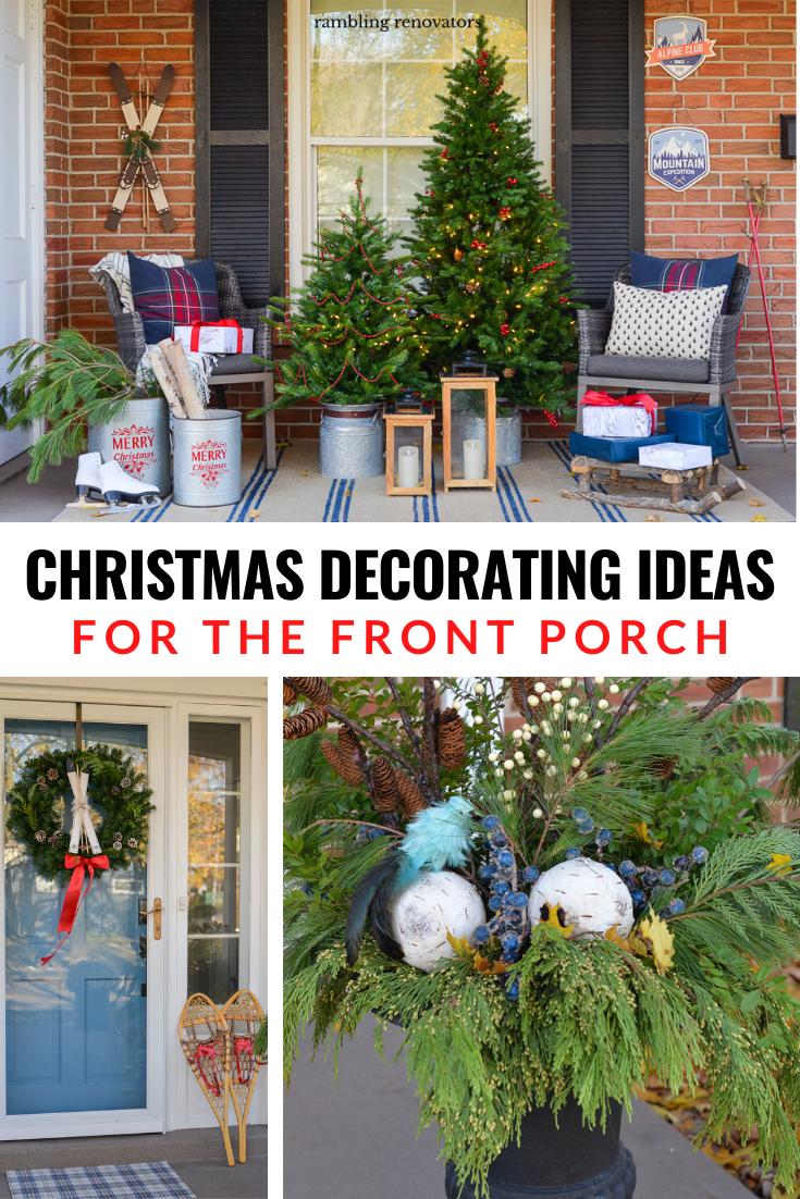 outdoor christmas decorating ideas, christmas porch decor