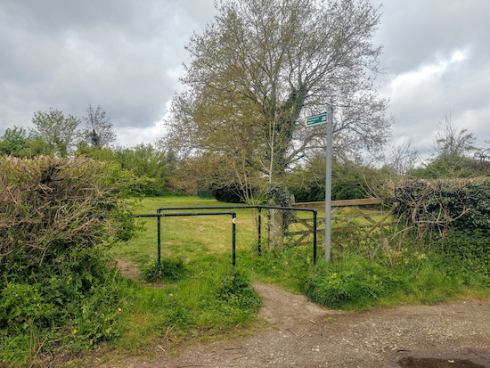 The footpath at the start of the walk