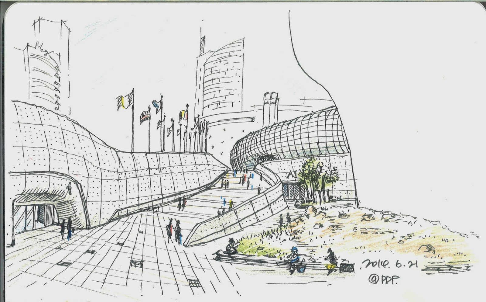 Seoul Urban Sketchers Sketches By Kim Kyunghee At