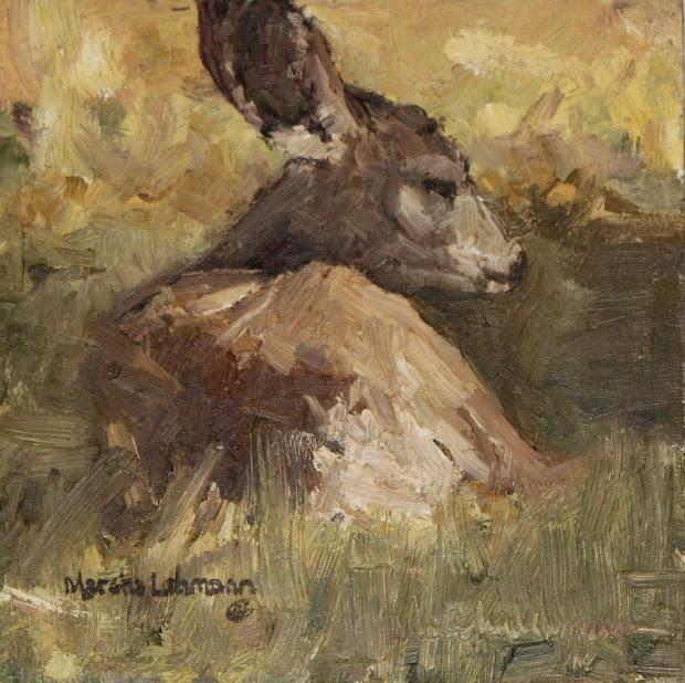 Mule Deer Oil Painting Art