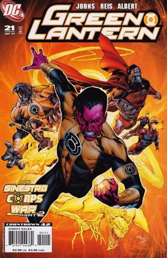 En la Guerra Sinestro intentó matar a los Green Lanterns