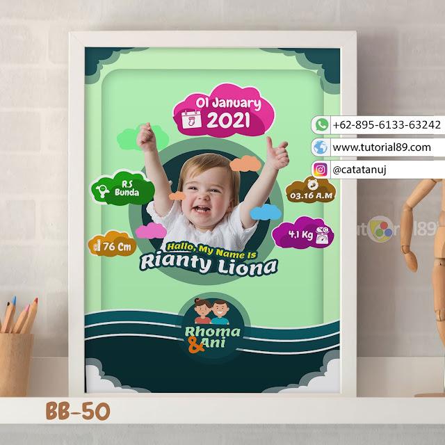 Biodata Bayi Costume Unik Kode BB49 | Hijau Putih