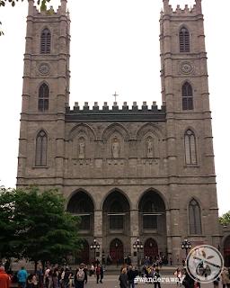 Facade of Notre-Dame Basilica of Montréal
