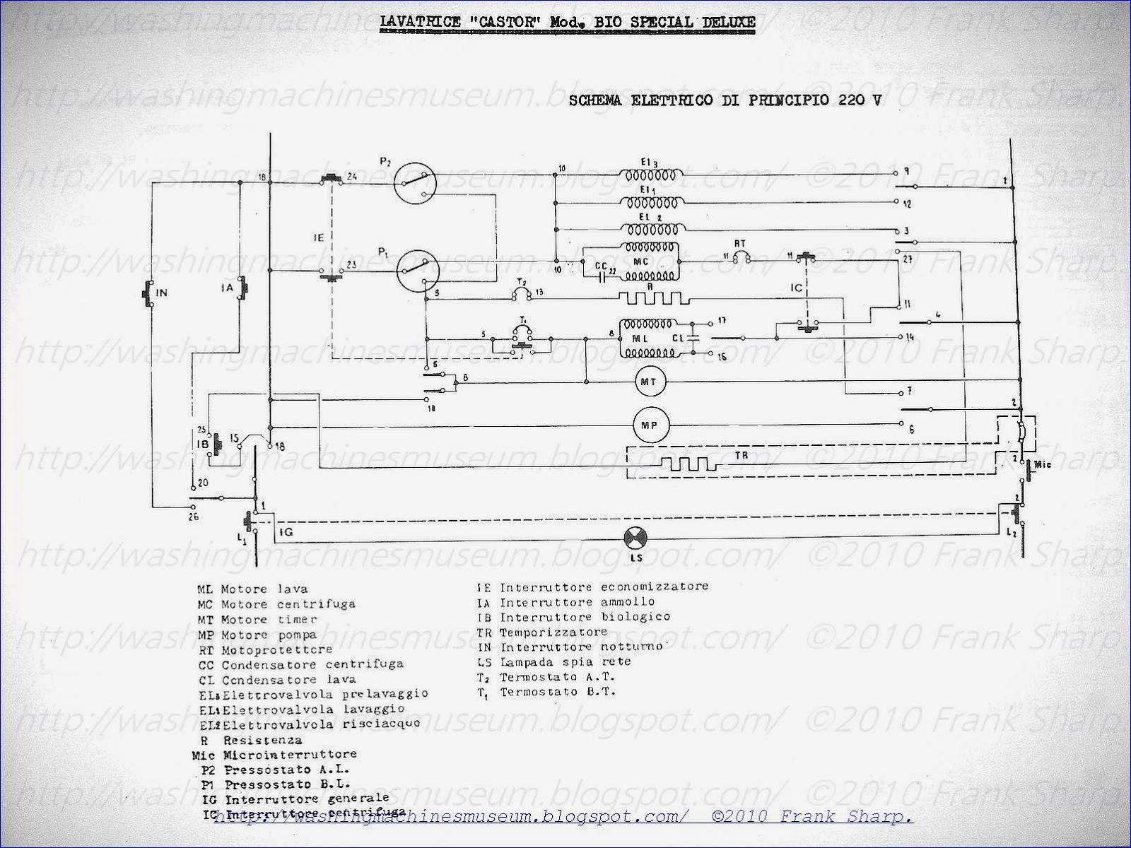 Washer Rama Museum   Castor Mod  Bio Special Deluxe Schematic Diagram