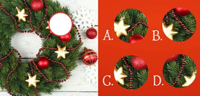 Figure: Time to hang your Christmas wreath! Choose the correct piece!