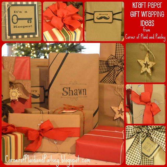 Corner of Plaid and Paisley: Kraft Paper Christmas Gift ...