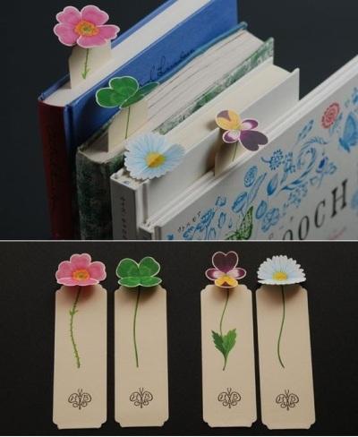 Pembatas buku bentuk bunga.