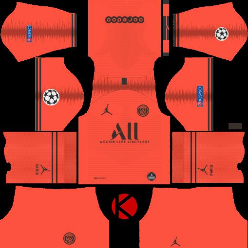 Paris Saint-Germain (PSG) 2019/2020 Kit - Dream League Soccer Kits ...