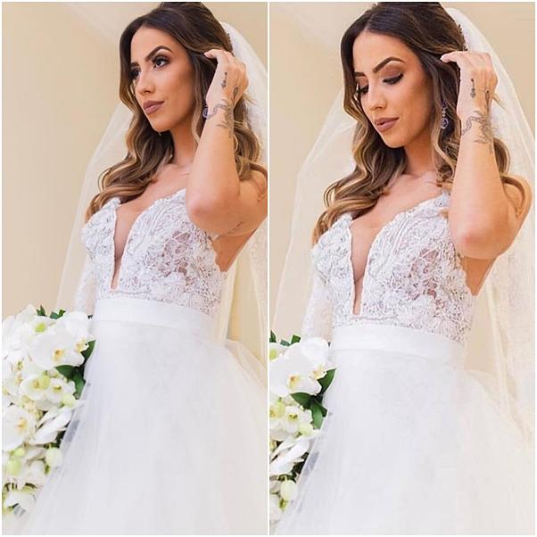 vestido de noiva e maquiagem Gabi Brandt