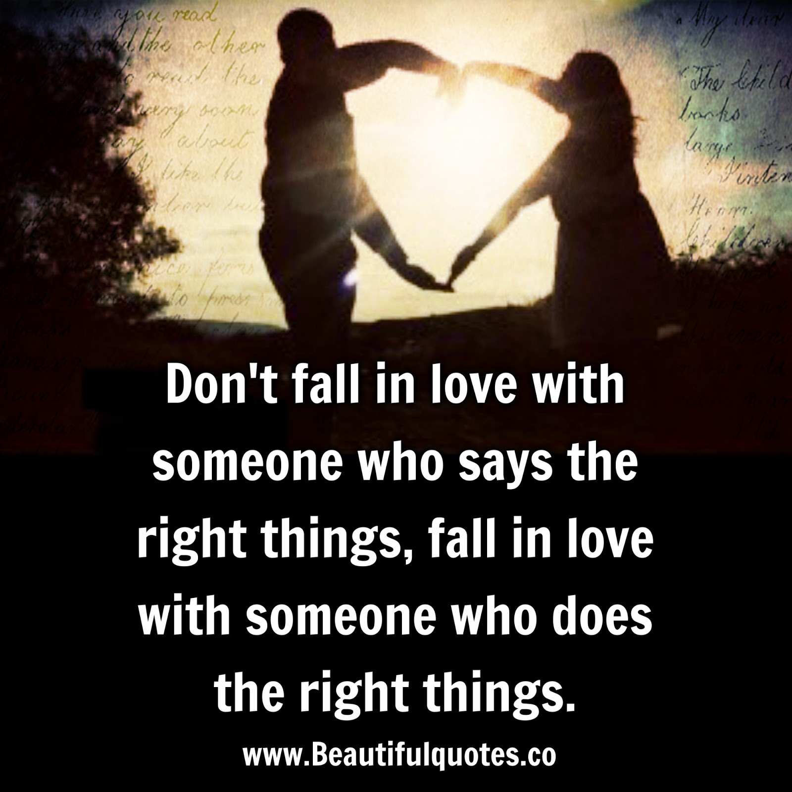 Don t fall in love with someone who says the right things
