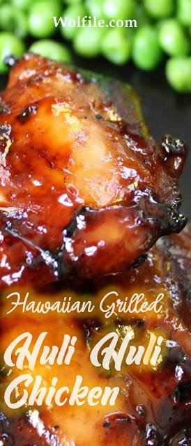Hawaiian Grilled Huli Huli Chicken Recipe #Chicken