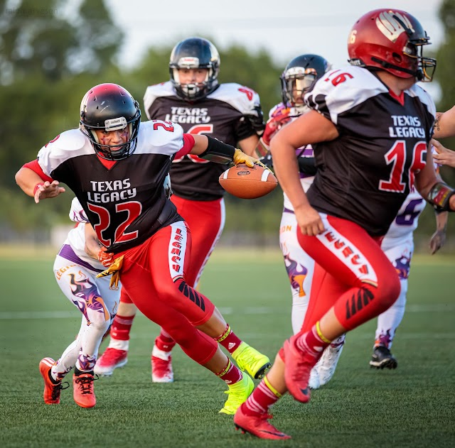 IWFA women's football game between the San Antonio Legacy and Coastal Bend Legions at the Round Rock Multipurpose Complex in Round Rock, Texas