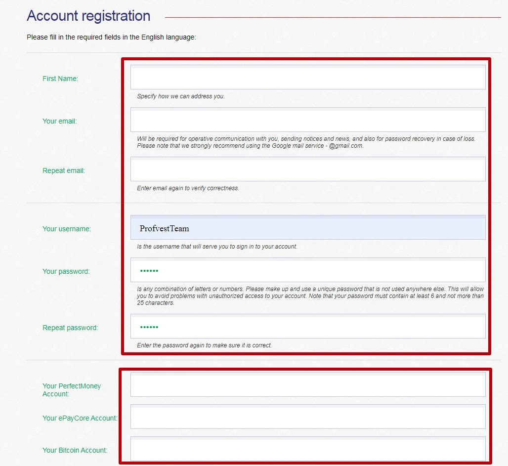 Регистрация в Bionicson 2