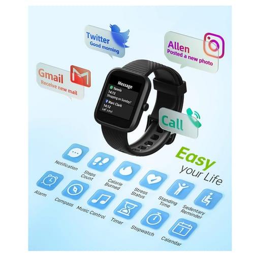 VirmeeSmart Smart Watch Sleep Track and Blood Oxygen