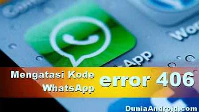error kode 406 WA