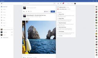 diseño de facebook para windows 10