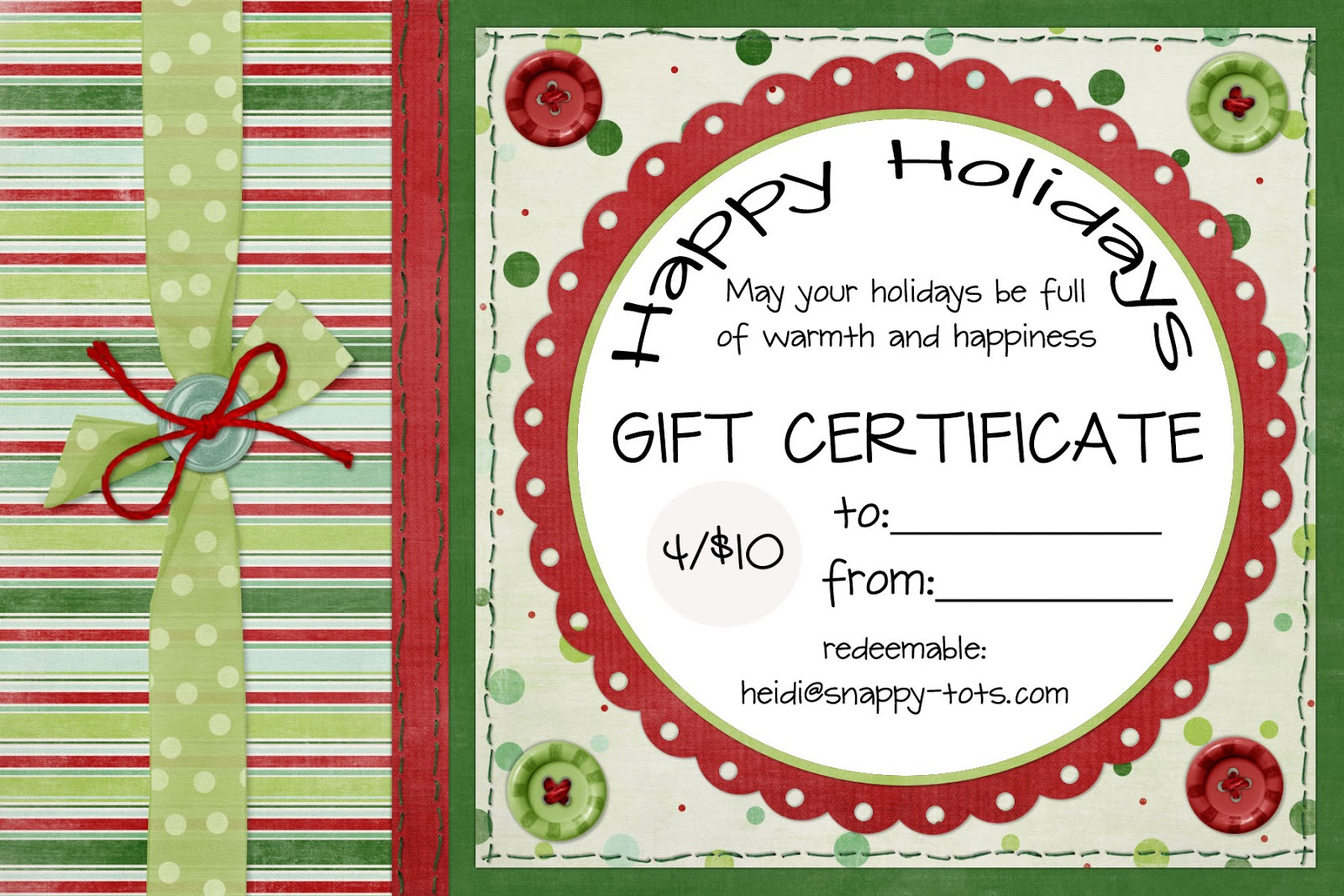 Gift Certificate Template Free Printable