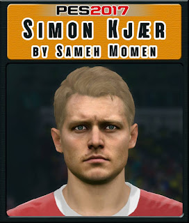 PES 2017 Faces Simon Kjær by Sameh Momen