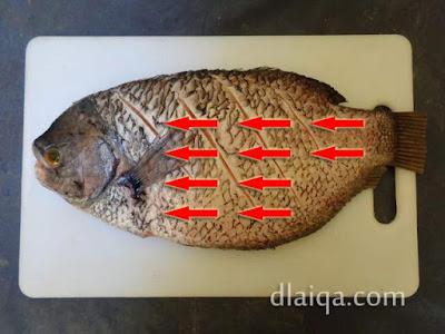 alur membersihkan sisik ikan