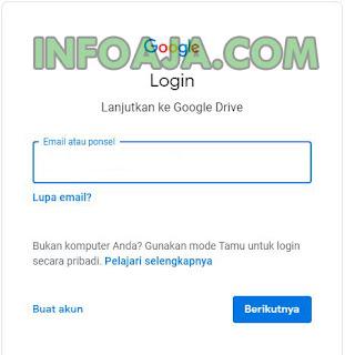 Login ke Google Drive