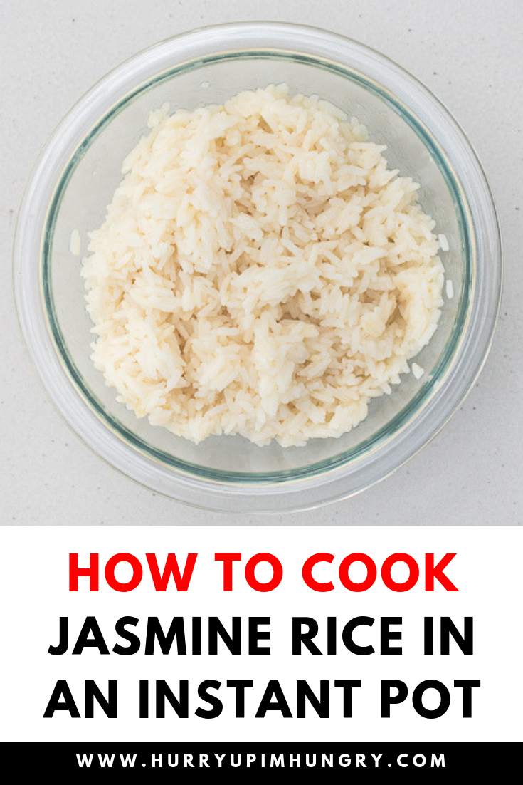 How to make jasmine rice in Instant Pot using the rice setting button