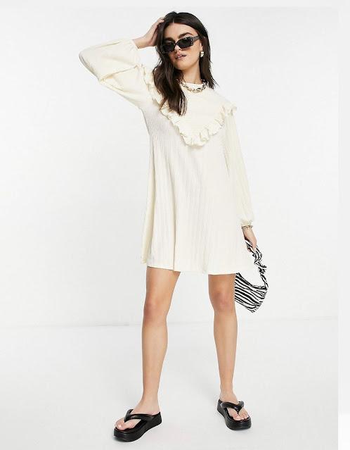 maryland influencer fashion after 40 teacher style river island shirred yoke ruffle asos