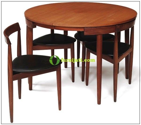 harga meja makan kayu jati minimalis kontemporer