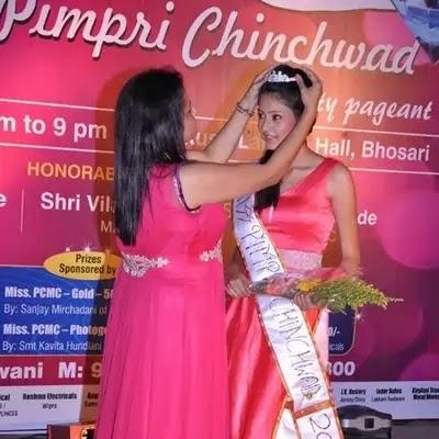 शिवांगी खेडकर 'मिस पिंपरी चिंचवड़' खिताब के साथ