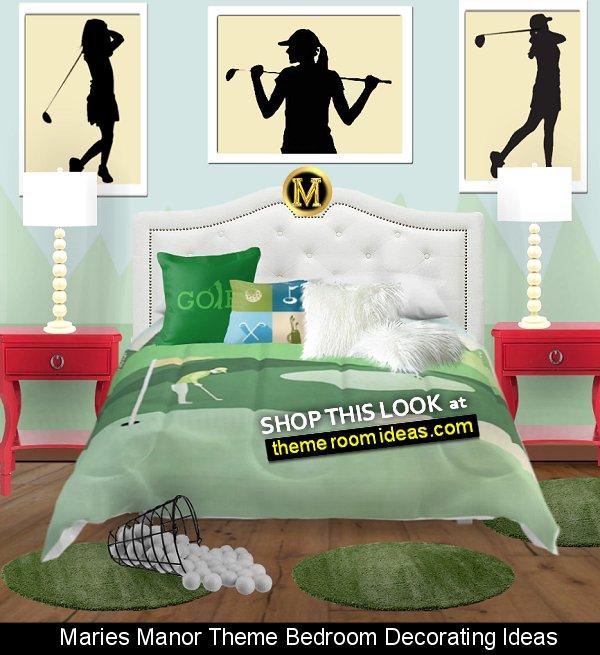golf bedding On The Green  Golf Throw Pillow