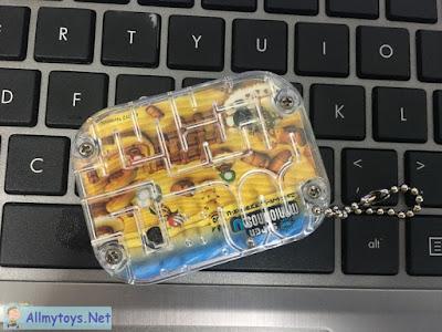 2 sides maze ball run game Super Mario Bros Pocket Toy 4
