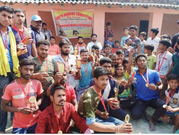 वैशाली जिले के भगवानपुर प्रखंड में एक दिवसीय खेल कार्य क्रम आयोजित किया गया!