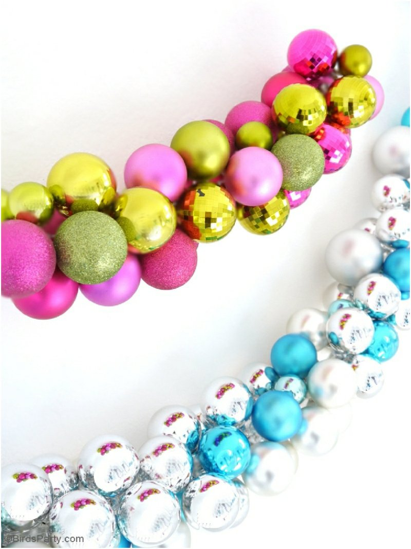 DIY Christmas Ornament Garland