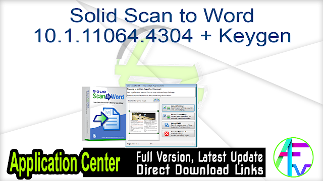Solid Scan to Word 10.1.11064.4304 + Keygen