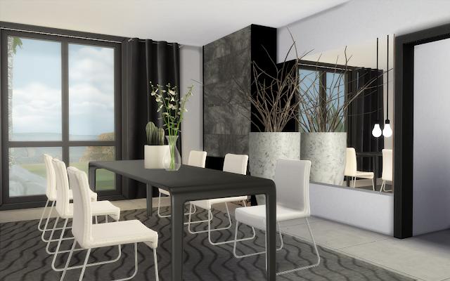 salle à manger de luxe sims 4