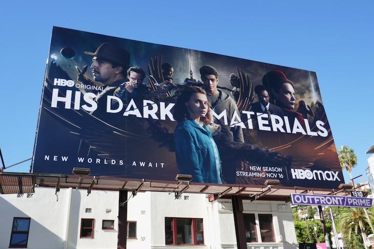 His Dark Materials season 2 HBO billboard