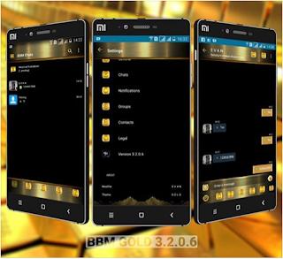 BBM MOD Gold V3.2.0.6 Apk Terbaru