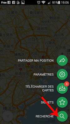 recherche Maps.me