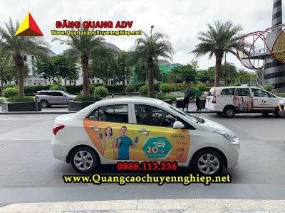 Dịch vụ dán quảng cáo trên xe hơi, ô tô