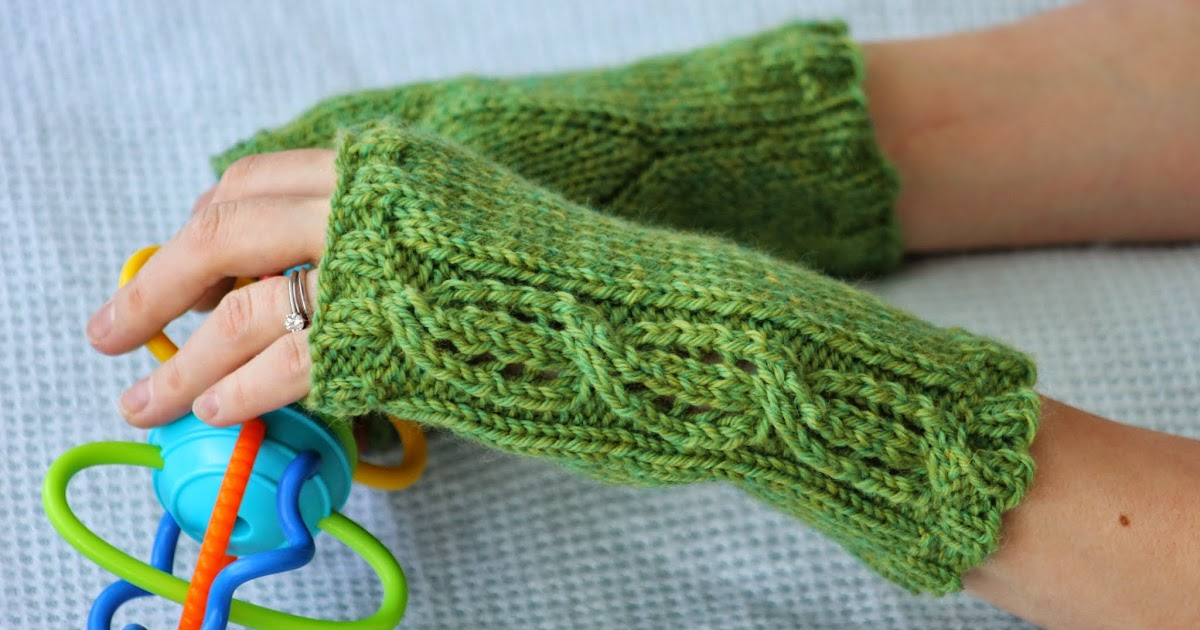 Knitting Mittens With Straight Needles : Balls to the walls knits lace cable fingerless gloves