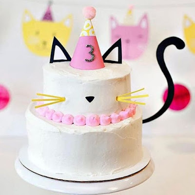 Kitty Cat Themed Party Cake And Food Ideas
