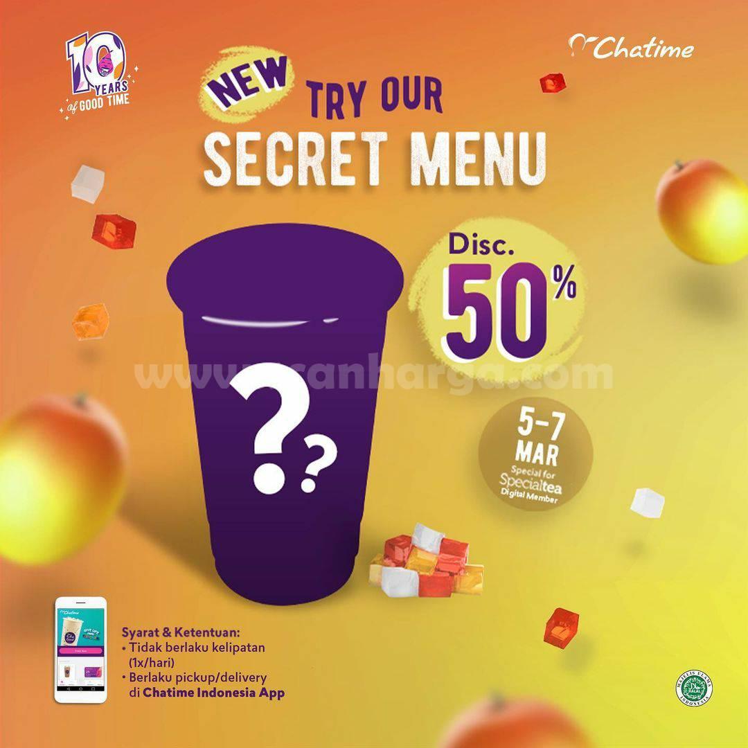 Promo CHATIME Secret Menu Diskon 50%