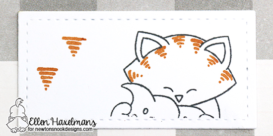 Cat coloring tip by Ellen Haxelmans | Newton Loves Cake Stamp set by Newton's Nook Designs #newtonsnook
