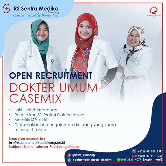 Loker Dokter Umum Casemix RS Sentra Medika